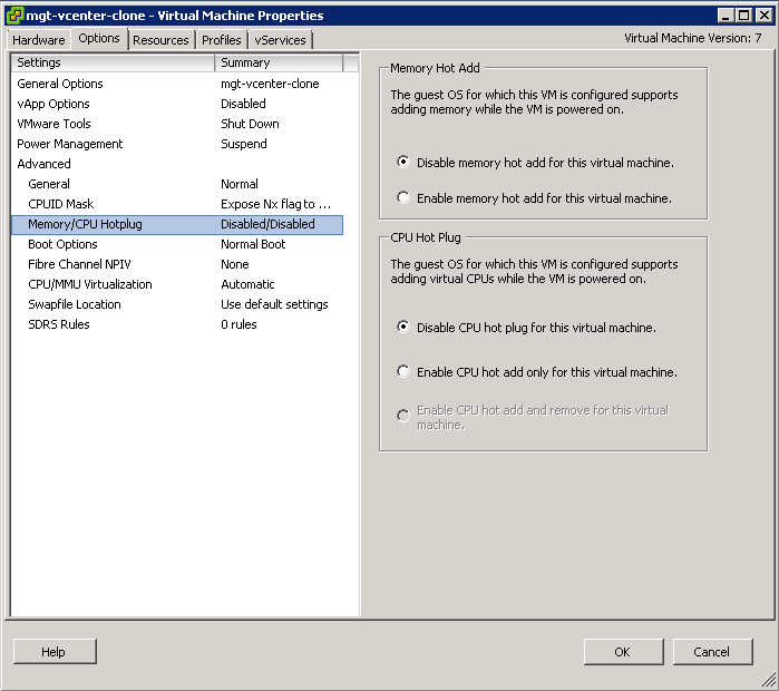 CPU Memory hotplug