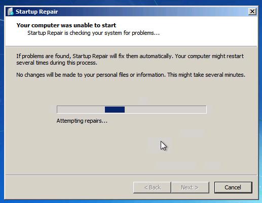 VM repair