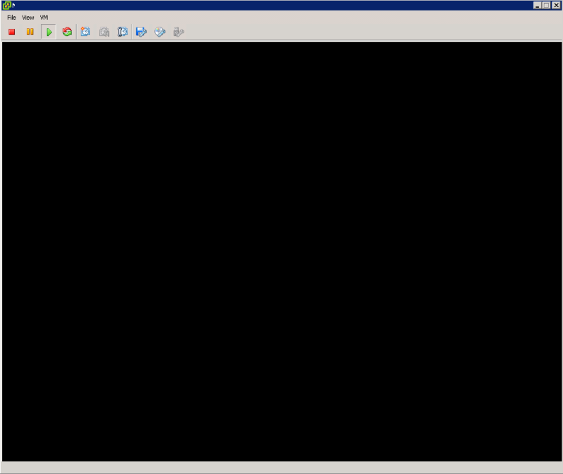 Blank VM after restart