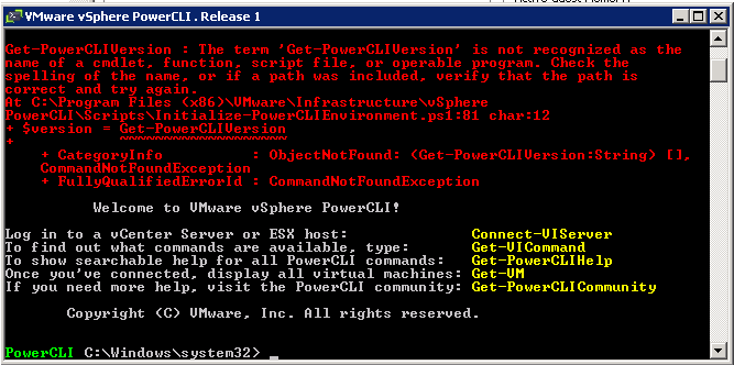 powercli error 1