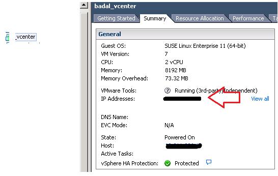 identify vcenter ip 2