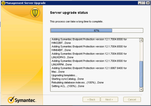 Symantec EndPoint Protection Upgrade guide 12 1 RU6 MP1 to