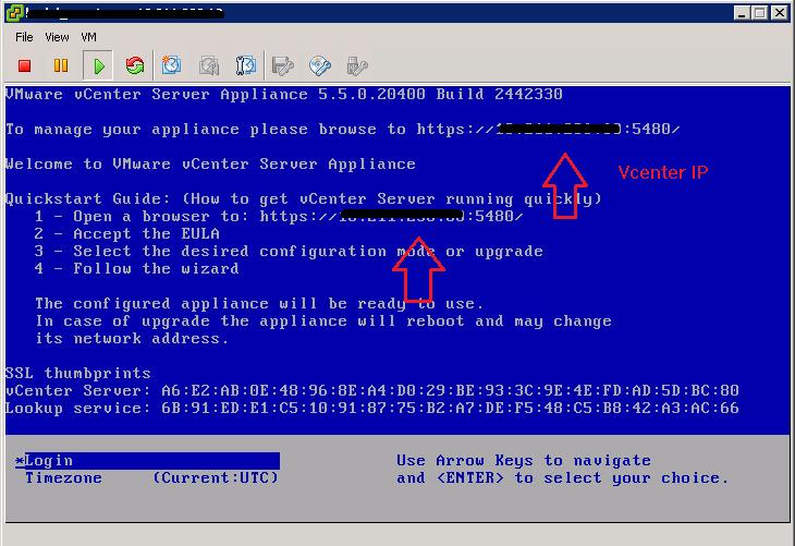 Vcenter IP