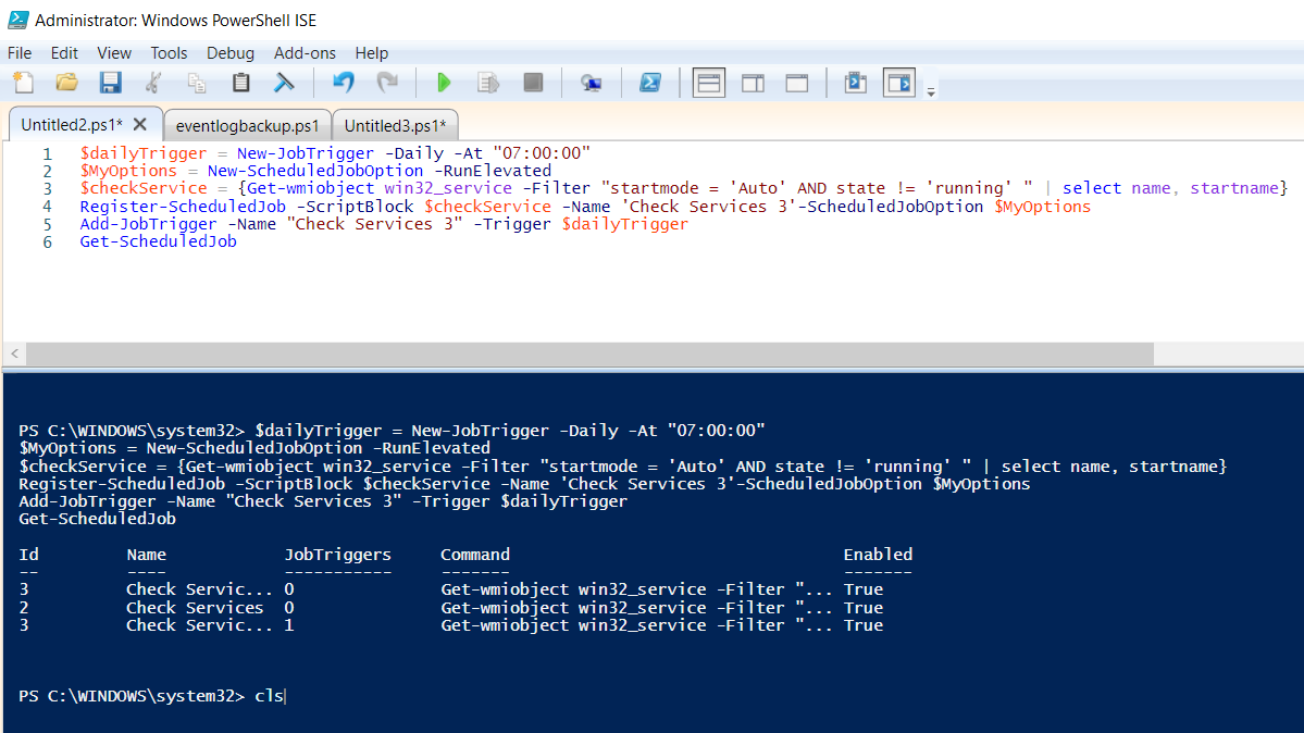 PowerShell script to add a task in Task Scheduler   The Server Admin